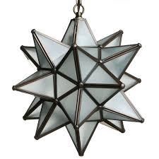 Glass Star Light 12 Inch Moravian Star Light Frosted White Glass