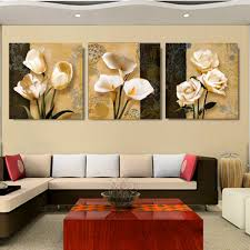 Paintings For Living Room Wall New Luxury 3 Pics Brown Orchid Modern Art Deco Mural Painting The