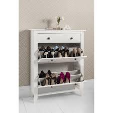 Cotswold Shoe Storage Unit in White Shoe Cabinet