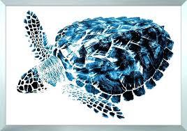 sea turtle beach ocean summer metal wall art