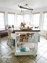 Repurposed Kitchen Island Kitchen Island Cart From Repurposed Materials Prodigal Pieces