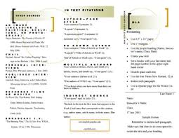 Mla Style Refrence Mla Style Guide Quick Reference Brochure