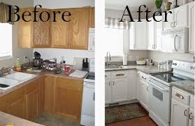 painted oak kitchen cabinets before and after. Painting Oak Kitchen Cabinets White 17 Best Ideas About Within Painted Before And After