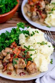 Pork, known for its speedy cooking time and tender meat, is a great alternative to ham or beef tenderloin for a big family meal. Creamy Slow Cooked Pork Casserole Nicky S Kitchen Sanctuary