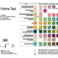 Color Chart Urine Test Strips Home Uti Infection Tests X 2