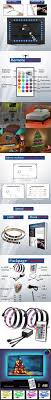 best ideas about tv led tv led tv led tv led backlight rgb 16 changing colors usb waterproof led lighting 2m strip set 3m adhesive tape for 40