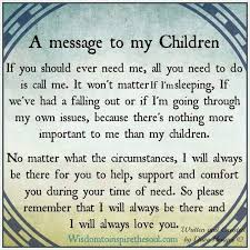 My Children Quotes A Message To My Children Pictures Photos And Images For Facebook 17