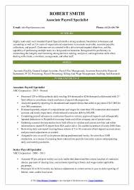 Payroll Specialist Resume Samples Qwikresume