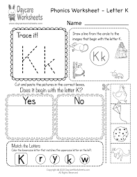 Included in your teacher account is access to 220 free phonics worksheets to use as a whole class, a reading rotation activity or homework. Free Letter K Phonics Worksheet For Preschool Beginning Sounds
