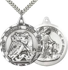 sterling silver st michael guardian