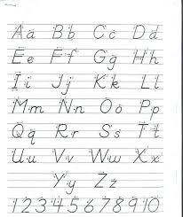 Printing Handwriting Worksheets Alphabet Handwriting Worksheets ...
