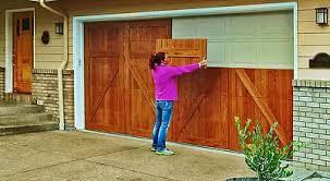 garage door refacingGarageSkins real wood garage door overlays