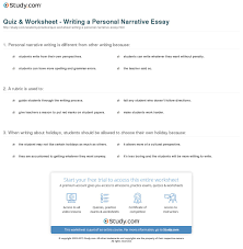 narrative writing essay examples narrative essay format narrative  quiz worksheet writing a personal narrative essay com print how to write a personal narrative essay