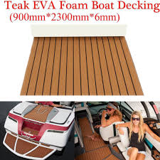 marine flooring faux teak eva foam boat decking sheet brown 91 x35 4 x0 24 914285409642
