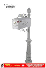 Aluminum mailbox post Postmaster Image Unavailable Amazoncom Amazoncom The Windsor Aluminum Post With Decorative Carriage
