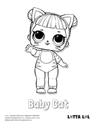 Marvelous Baby Cat Lol Surprise Doll Coloring Page Lotta Pics Of