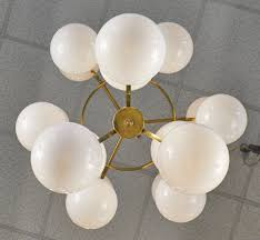 luxury glass globe chandelier 12 446 murano white globes brass structure d