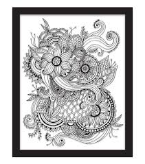adult coloring books coloring books for adults jo ann 11x14 color in floral tattoo float frame black