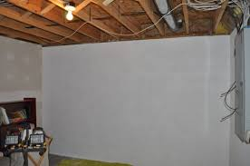 image of basement concrete wall paint white