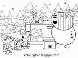 This animated series is broadcast on television in more than 180 countries and has been translated into 40 different languages. Winter Wood Brother George Zoe Zebra Post Man Mr Zebra Cute Peppa Pig Christmas Colouring Pictur Peppa Pig Coloring Pages Coloring Pages Winter Coloring Pages