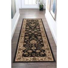 sensation black 2 ft x 10 ft runner rug