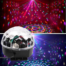 Party Lights That Go With Music Us 19 9 27w 9 Colors Led Disco Ball Light Dj Music Ball For Christmas Party Lights Coloful Stage Effect Equipment For Wedding Holiday In Stage