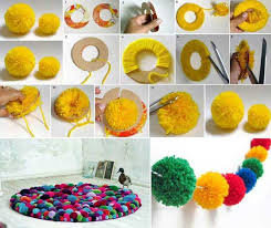 diy pompon rug genius home decor ideas 1 2
