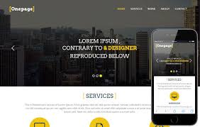 Single Page Website Template Classy One Page A Personal Portfolios Flat Bootstrap Responsive Web Template
