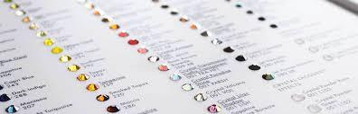 Swarovski Ab Color Chart Swarovski Colour Charts Bluestreak Crystals Uk