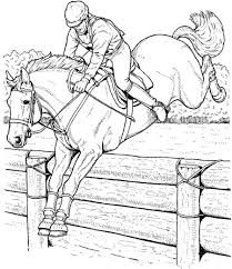Small Picture Coloring Pages Printable Horse Jumping Coloring Pages Jumping