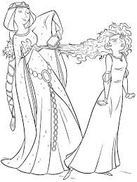 Small Picture Coloring Pages Kids Princess Merida And Her Horse Angus Coloring