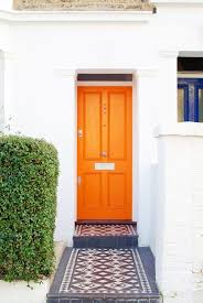 Orange front door Remodel 6 Mango Homedit Coloring The Front Door Meanings And Inspiration