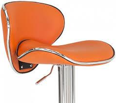 vida living nigella orange leather bar stool