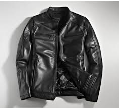 european and american casual fashion brand men s winter korean version of nagymaros collar leather jacket motorcycle