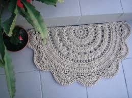 doormat half circle crochet jute door rug kitchen rug