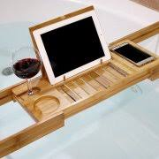 Welland LLC Bamboo Bathtub Caddy