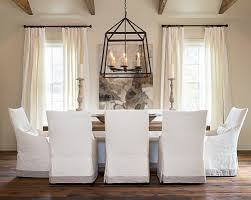 Furniture  Beautiful Dining Room With White Curtain Near White - Modern dining room curtains