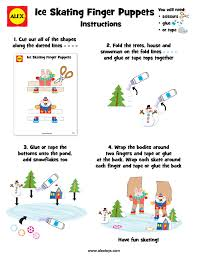 Ice Skating Finger Puppet Crafts With Free Printables