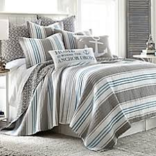 Quilts & Coverlets - Coastal | Bed Bath & Beyond & image of Provincetown Reversible Quilt in Grey Adamdwight.com