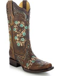 zoomed image corral women s embroidered rose western boots brown