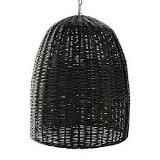 Rattan Pendant Lighting Above The Cabrillo Pendant From Serena U0026 Lily Is Handmade Of Black Stained Rattan And Comes With A Fabriccovered Cord 195 Lighting