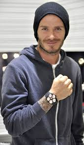 david beckham flashes his 11 000 watch daily mail online global icon david beckham smiled as he showed of his new jacob co watch