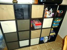 black metal cube wall shelf organizer wire shelves storage 4 stacking