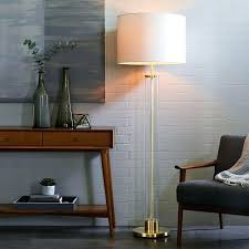 floor lamps clear floor lamp ore international satin nickel inch glass floor lamp jessica clear
