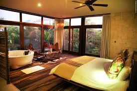 Tropical Master Schlafzimmer Dekor Idee Mit Runde Badewanne