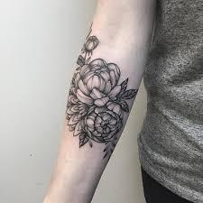 эскизы тату на руку пионы татуировки цветы эскизы Empiretattooru