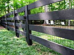 2x4 welded wire fence. Brilliant Wire Black Wood Pasture Fence With Vinyl Coated 2x4 Welded Wire To Welded Wire Fence