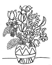 Disegni Da Colorare Bambini I Vaso Di Fiori