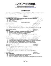 Resume For Health Science Majors Environment20sample20resume201 14
