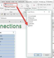 Pivot Chart Excel 2016 Mac Connect Slicers To Multiple Excel Pivot Tables Myexcelonline